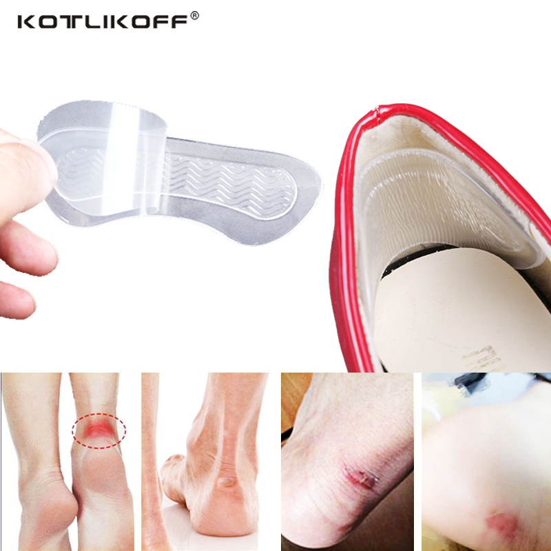 KOTLIKOFF 4pair gel insoles high heel shoes pad super soft insole Non Slip Silicone Cushion Foot Heel Protector Shoe accessories new fashion brand new 3 pair fashion silicone gel heel cushion protector shoe insert pad insole free shipping for gift