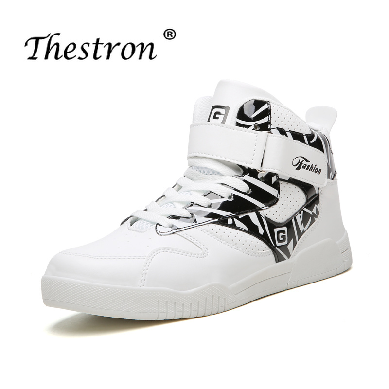 Mens Shoes Casual Flat Sneakers Large Size 39-46 Footwear Walking Black White High Top for Men