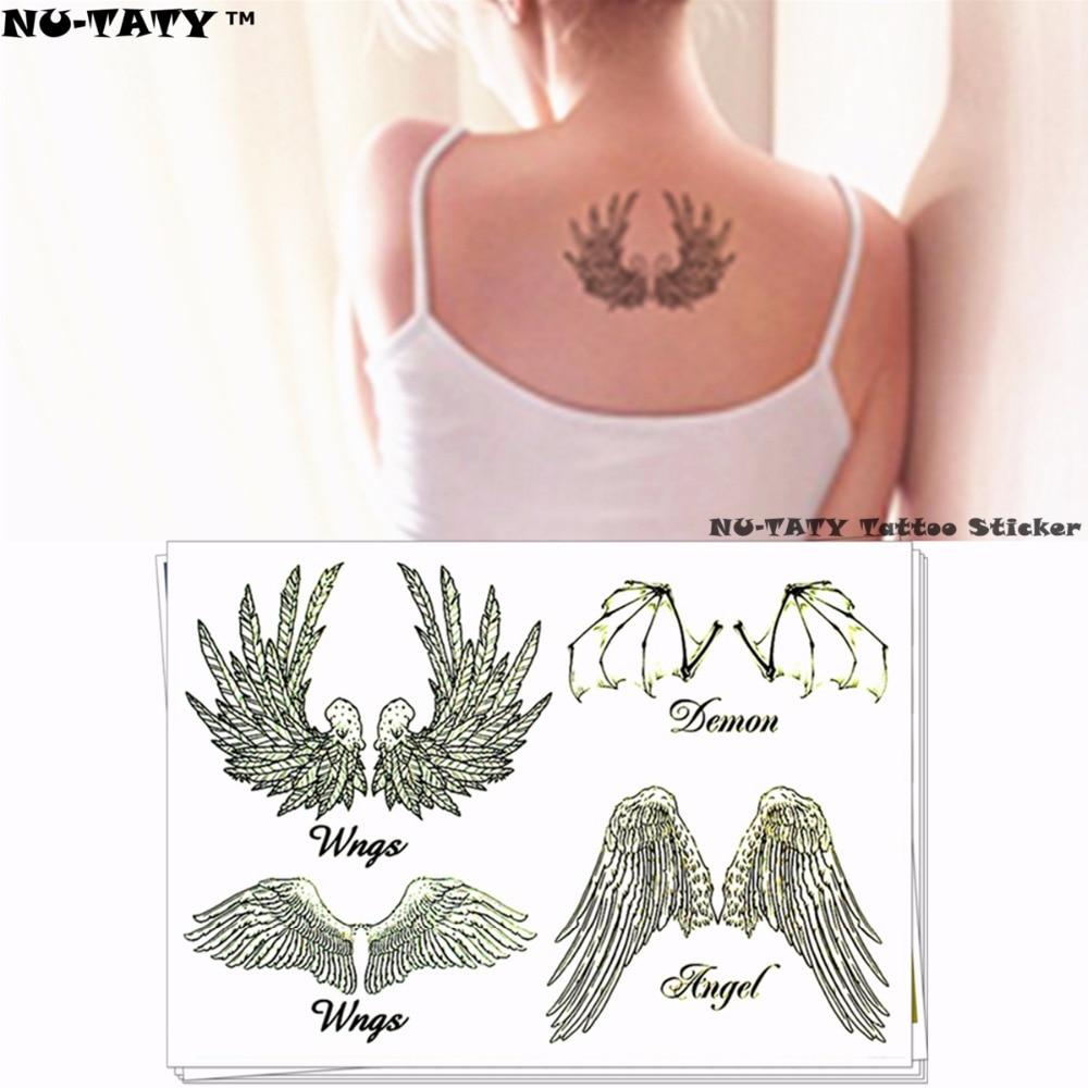 Nu-TATY Sexy Bat wings Temporary Tattoo Body Art Flash Tattoo Stickers 17*10cm Waterproof Fake Tatoo Car Styling Wall Sticker