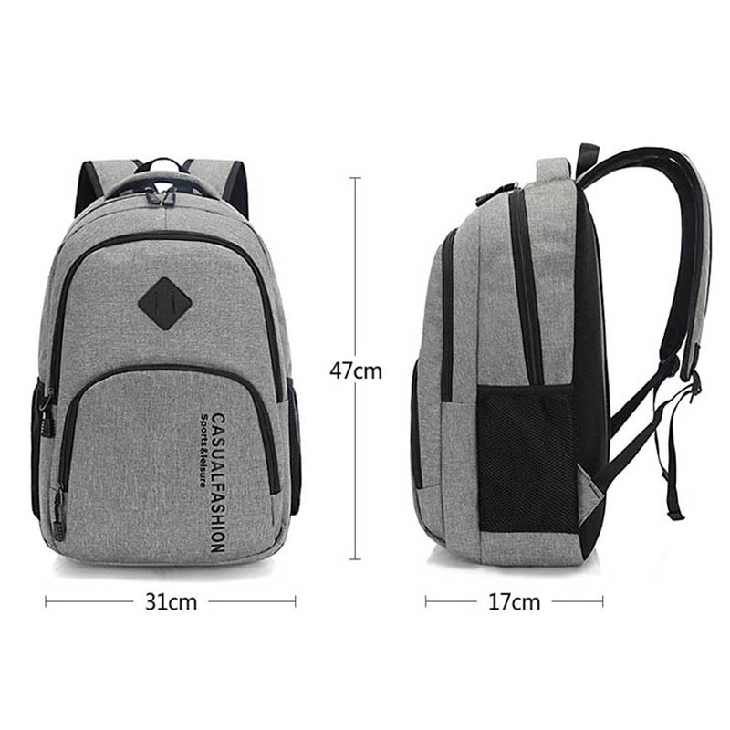 2019 New Fashion Men's Backpack Bag Male Canvas Laptop Backpack Computer Bag High School Student College Student Bag Male #3