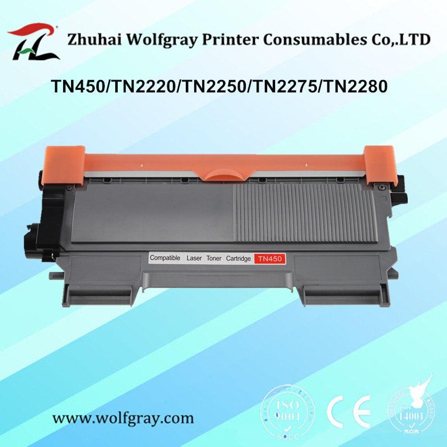 Kompatybilne kasety z tonerem dla brata TN-450 TN450 TN2220 TN2250 TN2275 TN2280 MFC-7360/7362/7460/7470/7860 /7290 DCP-7055/7060