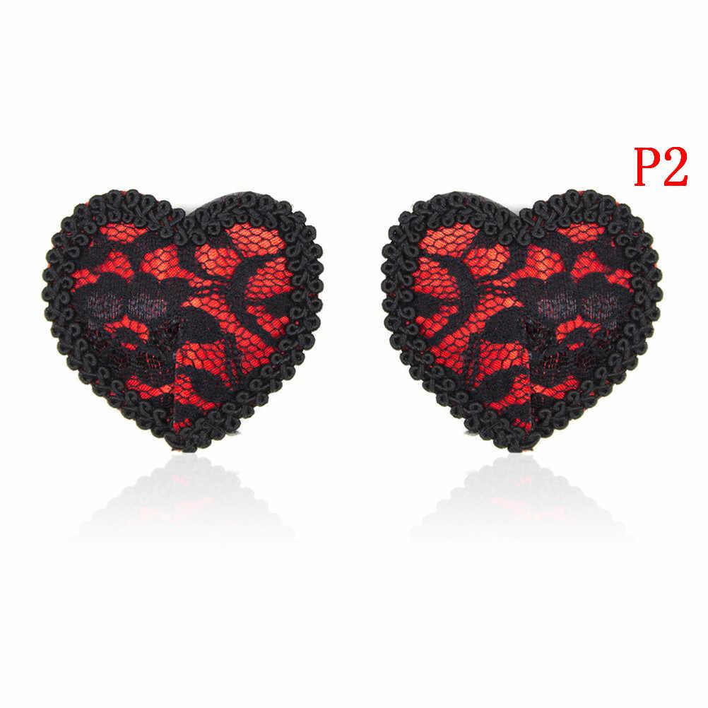 1 par de fundas para pezones de lentejuelas sexis para mujer con borlas pezón con forma de corazón pegatinas para el pecho de productos sexuales