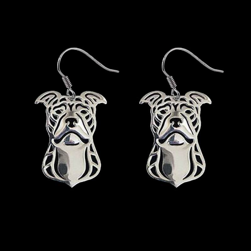 2018 мода ювелирные изделия сплава Серьги Для женщин из металла питбультерьер Висячие серьги