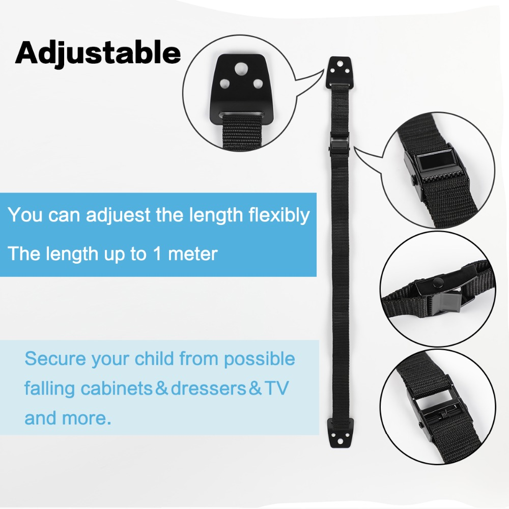 Tv Furniture Anti Tip Straps Strong Wall Mounting Hardware For Instant Earthquake Baby Safety Security Protection In Cabinet Locks