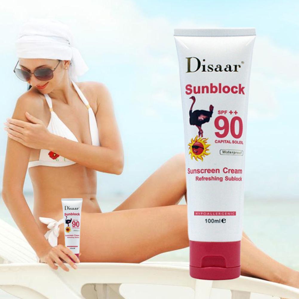 Spf90++ Sunscreen Cream Waterproof Sunblock Foundation Whitening Isolation Moisturizing Skin Sun Protective Cream Face Skin Care