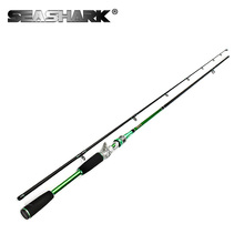SEASHARK  2 Tips 2.1M Casting Rod Lure Fishing Rod Baitcasting Rod  Power ML M 99% Carbon Action Fast Ultralight Rod