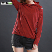 Sport Running T Shirt with hooded for Women Dry Quick Gym Shirt, Ladies Fitness Short Sleeve T-shirt Jogging Jogger Tops