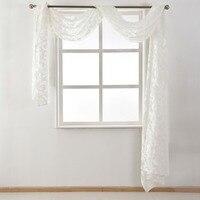 Style Valance Treatment Decoration Textile Beige Tulle Window Black Fabrics Sheer White European Home Organza Waterfall