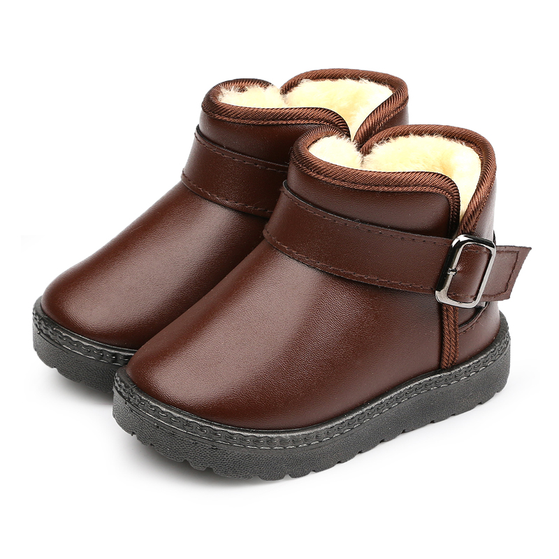 Winter-Warm-Boots-childkidgirlboy-Warm-Bootst-antislip-sole-short-boots-waterproof-leather-cotton-padded-shoes-4