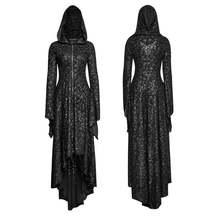 Женское платье с капюшоном Черное Трикотажное длинное в стиле