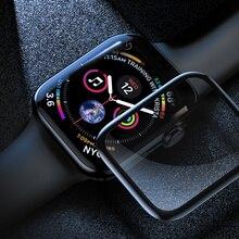 Закаленное Стекло для apple watch 4 5 44 мм 40 мм наручных часов iWatch, версия 1, 2, 3, ремешок 42 мм, 38 мм, версия 3D с уровнем твердости 9H Экран Защитная пленка для apple watch 5 4 3 2 1 Аксессуары 44