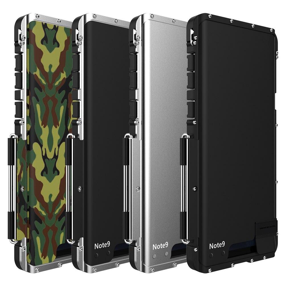 R-JUST roi fer homme armure antichoc téléphone étui pour samsung Galaxy Note 9 8 S10 S9 S8 Plus Flip aluminium métal 360 protecteur