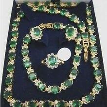 Изысканные настоящие новые модные ювелирные изделия из кубического циркония% Красивые Новые ожерелья браслет серьги кольцо