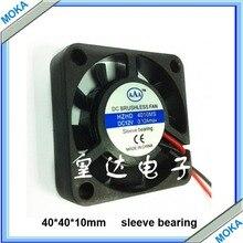Хорошее качество 10 шт. много 4 см 24vdc промышленных вентилятор подшипник скольжения 40*40*10 мм вентилятор dc