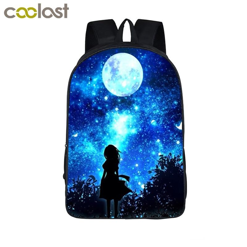 Galaxy/Universo/Unicorno/Cheshire Cat Scuola Zaino per Teeange Ragazze Sacchetti di Scuola Notte Stellata/Space Star zaini