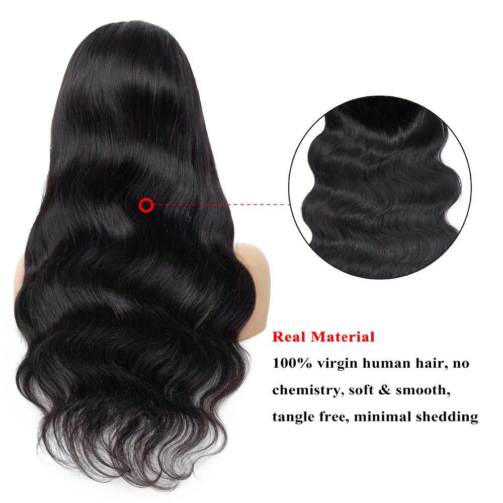 Body Wave Lace Front Human Hair Wigs Pre Plucked With Baby Hair Natural Raw Indian Hair Glueless Lace Front Wigs For Black Women