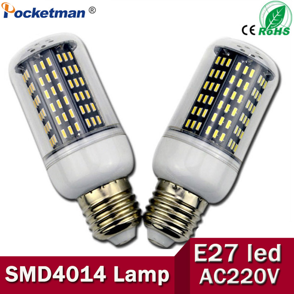 E27 E14 SMD 4014 Led Corn Bulb Lamp 220 V 36 56 72 96 138LEDs Replace Incandescent 40 W 60 W 80 W 100 W 120 W Lampada ZK50