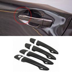 Auto zewnętrzna pokrywa do klamki z włókna węglowego naklejki ozdobne nakładka wykończeniowa do Lexus ES w/inteligentny klucz 2013-19