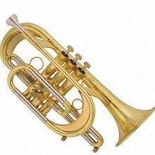 Bb cornet инструменты, труба-пассивация с пенокорпусом Музыкальные инструменты trumpete профессионалов