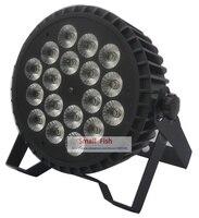 Новый светодио дный Professional светодиодные огни этапе Вт 180 светодио дный Вт плоским LED Par свет 18x12 Вт LED PAR прожектор RGB DMX сценическое Освещение DJ