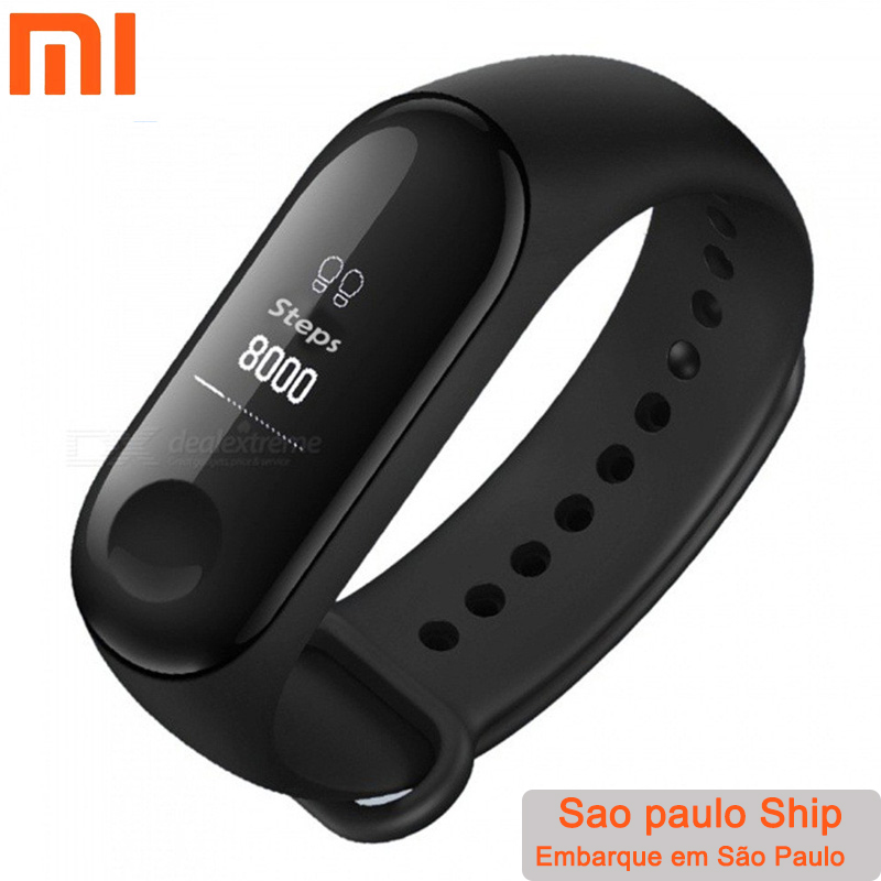 Global Version Xiaomi Mi Band 3 Miband 3 Smart Tracker Band Instant Message 5ATM Waterproof OLED Touch Screen Mi Band 3-in Smart Wristbands from Consumer Electronics