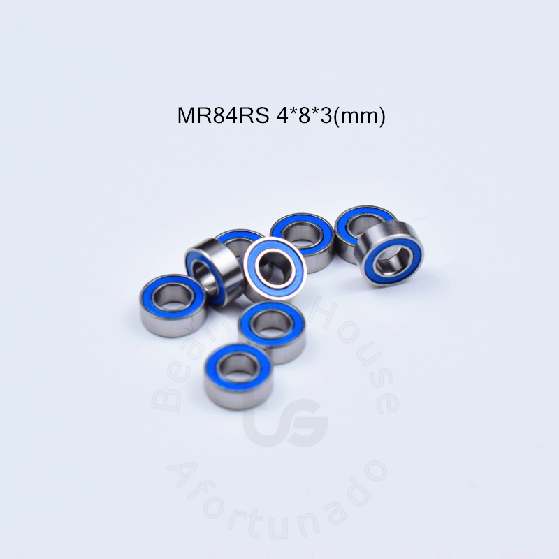 MR84RS 4*8*3(mm)  Free Shipping Bearing ABEC-5 Rubber Sealed Miniature Mini Bearing MR84 MR84RS Chrome Steel Deep Groove Bearing