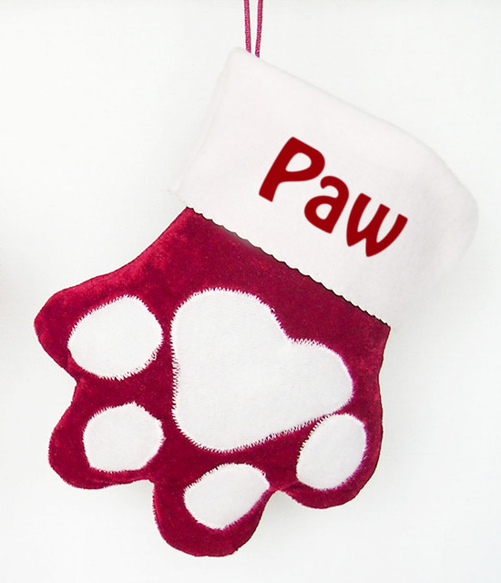 Us 10 0 Paw Christmas Stockings Customized Name Personalized Red Velvet Festivial Decor In Christmas From Home Garden On Aliexpress Com Alibaba
