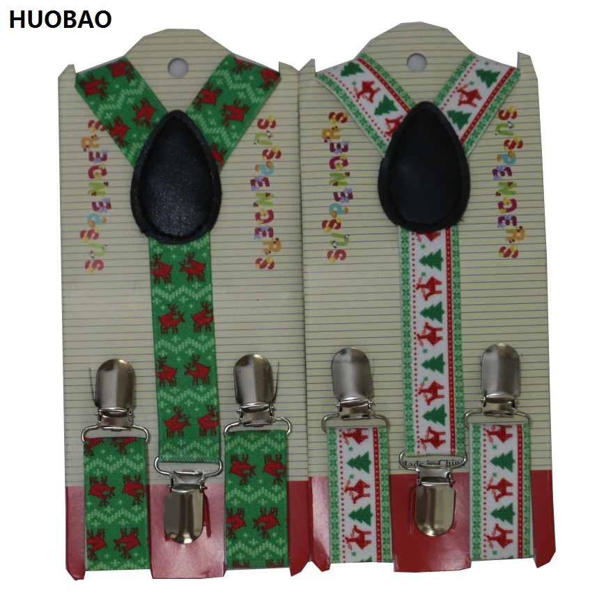 HUOBAO 2019 New Cute Kids Toddle Clip On Adjustable Deer Snowflake Christmas Braces Suspenders For Boys Girls