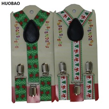 HUOBAO 2017 New Cute Kids Toddle Clip On Adjustable Deer Snowflake Christmas Braces Suspenders For Boys Girls