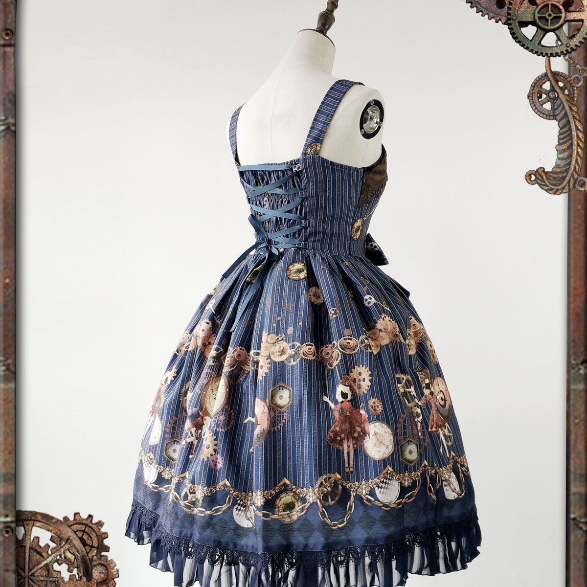 0c23dcdb305 Women s Steampunk Dress Mechanical Doll Series Printed Lolita JSK Dress by  Infanta  Pre order -in Lolita Dresses from Novelty   Special Use on ...