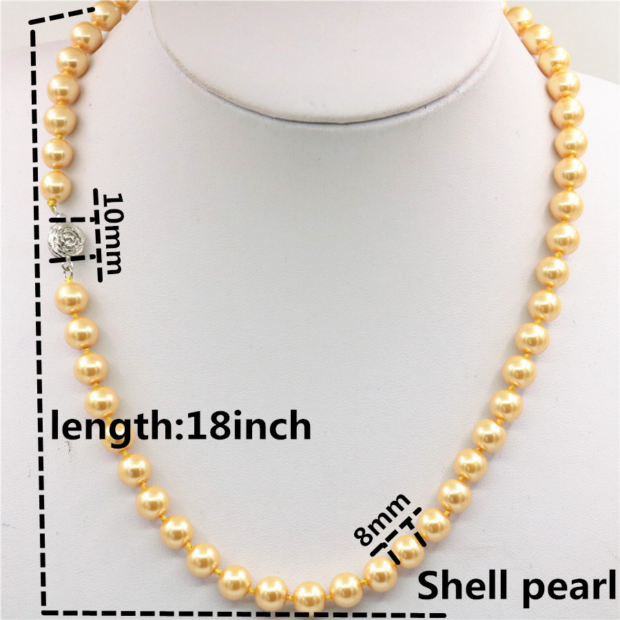 """Natural AAA 8 mm Coloré South Sea Shell Pearl Fashion Collier 18/"""""""