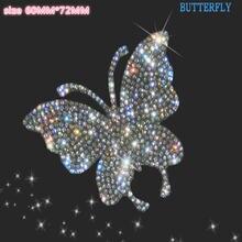 Diy 3d Лебедь Бабочка Стиль искусственный кристалл Автомобильная
