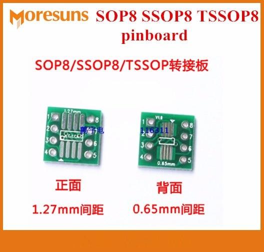 Fast Free ship 20pcs/lot 12*12mm SOP8 SSOP8 TSSOP8 SMD turn DIP Spacing 0.65/1.27mm Pinboard/Conversion Card