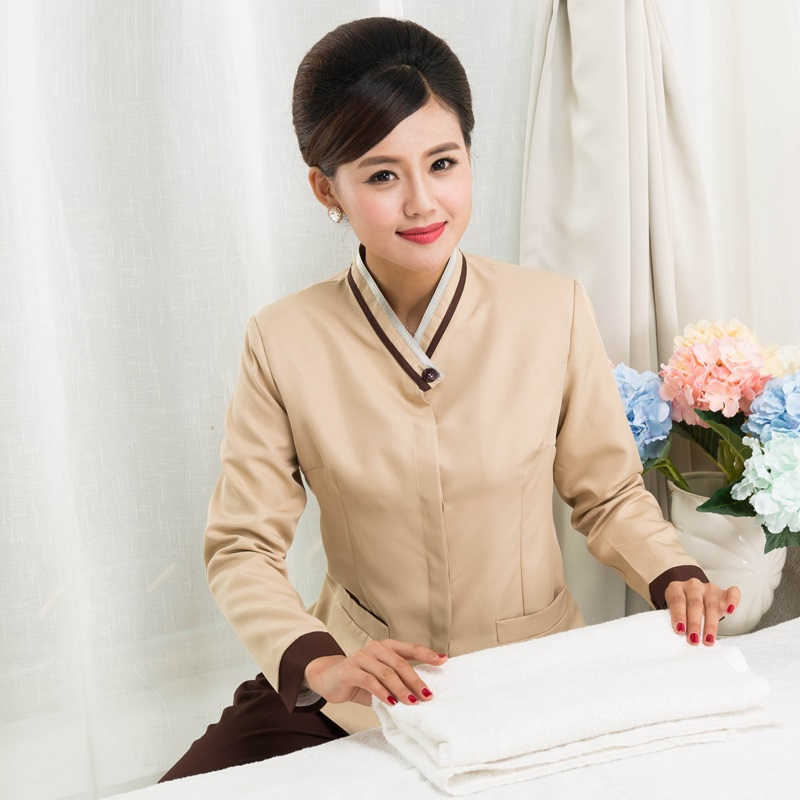 10-Set-Coat--Pant Female Winter Long-Sleeve And Autumn Overalls Attendant Pa-Uniforms