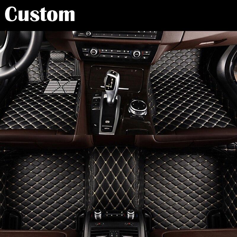 Custom car colors floor mats for Land Rover Discovery 4 freelander 2 Sport Range Rover Sport Evoque 3D car styling carpet liner