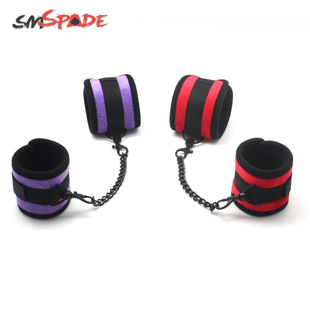 Buy SMSPADE Bdsm Bondage Boutique Soft Handcuffs Fetish Slave Sex Toys Couples Adult Sex Toy Products