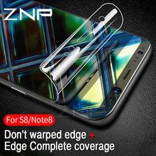 04c247019a6 ZNP 3D curvado suave película protectora para Samsung Galaxy S8 S8 más Nota  8 Film Protector de pantalla para Samsung S7 s6 bord.