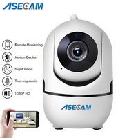 ASECAM HD 1080P Cloud Wireless IP Camera Intelligent Auto Tracking Human Home Security CCTV Network Wifi Camera Motion Detection