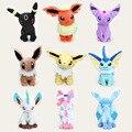 Anime Eevee Pikachu cerca de 30 cm de evolução, Espeon, Umbreon, Jolteon, Vaporeon brinquedo de pelúcia brinquedo de presente do bebê