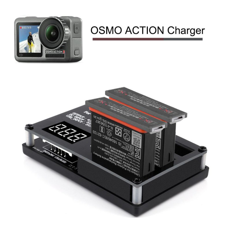 Sports Camera Rechargeable Lithium Battery With Three Chargers For DJI OSMO Action