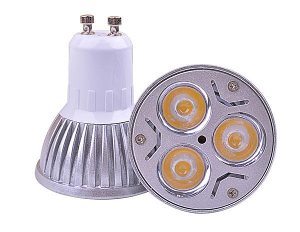 Pcs led spotlight free shipping gu led lamps w lm gu