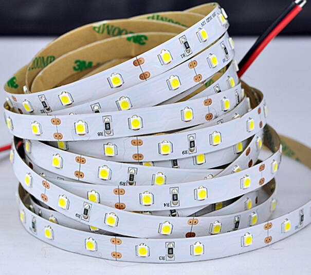 Free Shipping Cost single row led strips SMD3528 Ra85 60led/m IP20 PCB led flexible light 50m/lot 3 years warranty