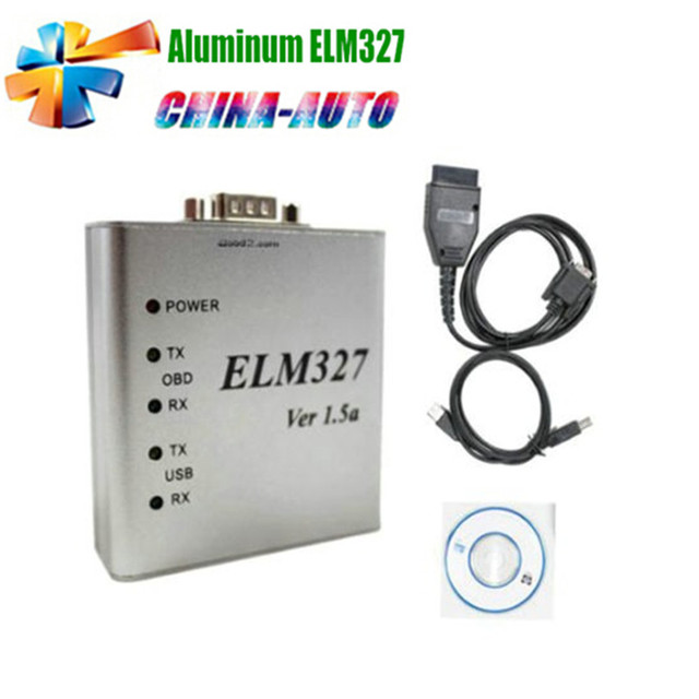 10pcs/lot DHL Free Aluminum ELM327 USB Metal ELM327 Auto OBD2 Diagnostic Interface OBDII CAN-BUS Scanner V1.5 ELM 327
