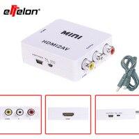 Effelon mini convertidor de hdmi a $ number rca av compuesto cvbs de vídeo hd adaptador convertidor de conector