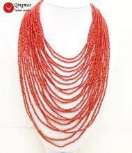 Женское Ожерелье qingmos Трендовое коралловое ожерелье из 20