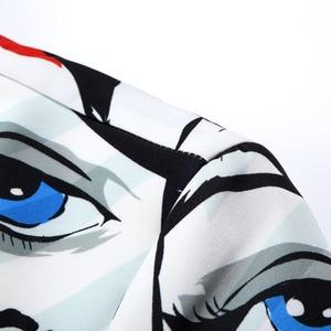 Image 5 - سترة مطبوعة عصرية للرجال بموضة جديدة من PYJTRL مصممة بحجم كبير للركبة غير رسمية للرجال بمقاس كبير بدلة ضيقة زي مغني
