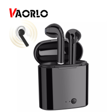 VAORLO Mini Bluetooth Earphone Wireless Earbuds TWS Stereo Sports Headphones In Ear Headset With Charging Box I7S for Iphone X 8