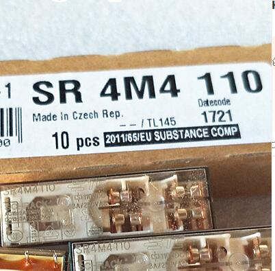 цена на Free Shipping 2pcs/LOT SR4M4110-110vdc Brand new original. Elevator dedicated. Safety relay