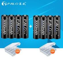 8 шт. 100% оригинал Palo 1,2 в AA батареи 3000 мАч Ni-MH 2a 2A AA перезаряжаемая аккумуляторная батарея для камеры игрушка фонарик