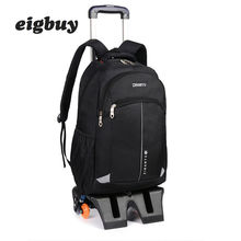 Student Shoulder Teen Backpack Girl Rolling Luggage Children Trolley Suitcases Wheel Cabin Travel Duffle School Bag Mochila все цены